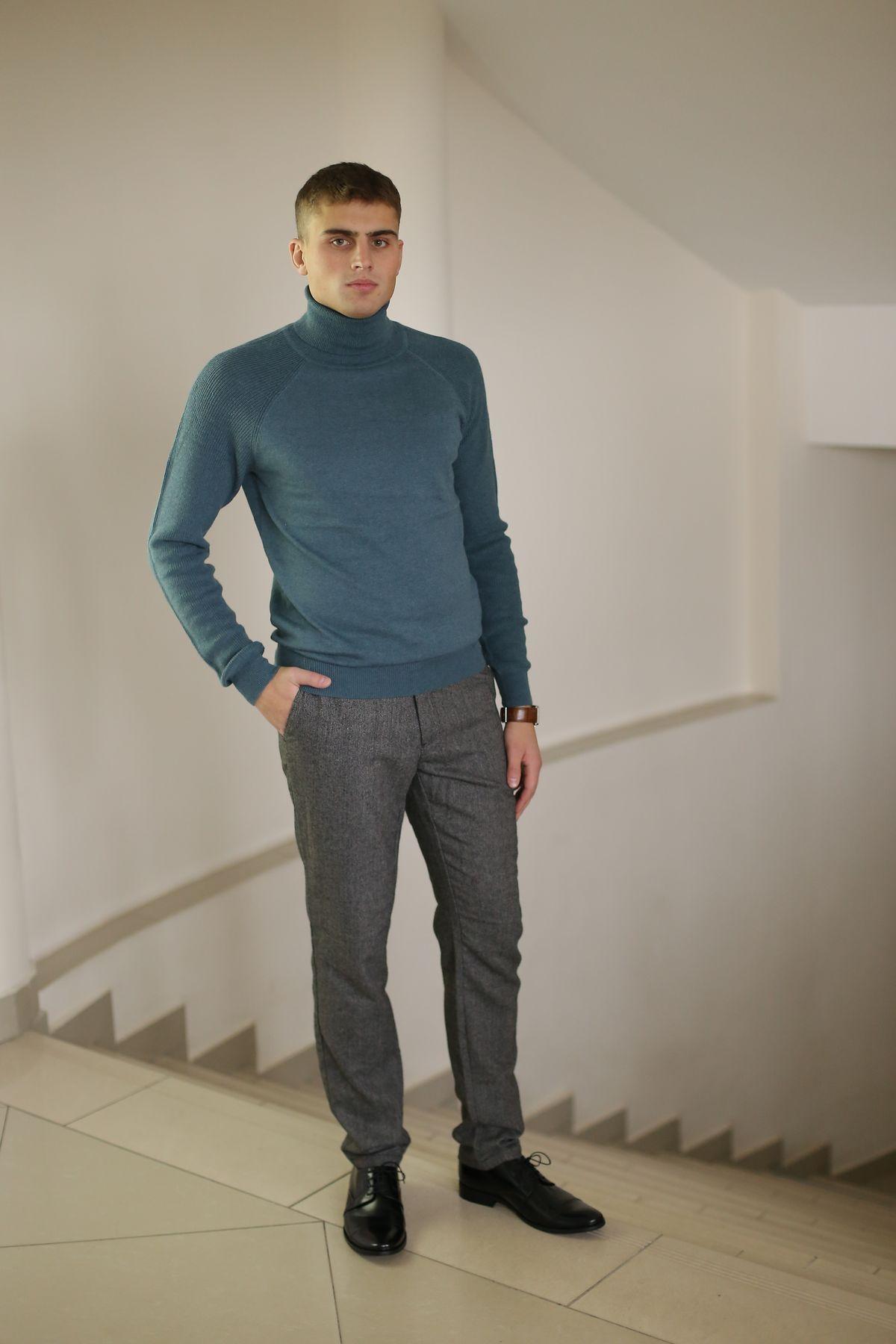 Водолазка tom farr, брюки corey fildman, туфли классические «Conhpol»