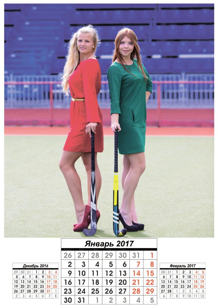 Хоккейный клуб «Текстильщик-БарГУ» выпустит календарь с фотографиями хоккеисток