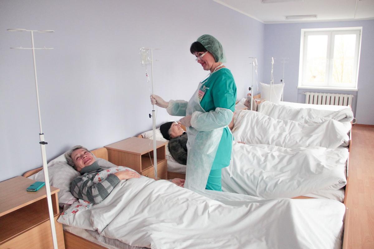 Пациенты в отделении дневного пребывания