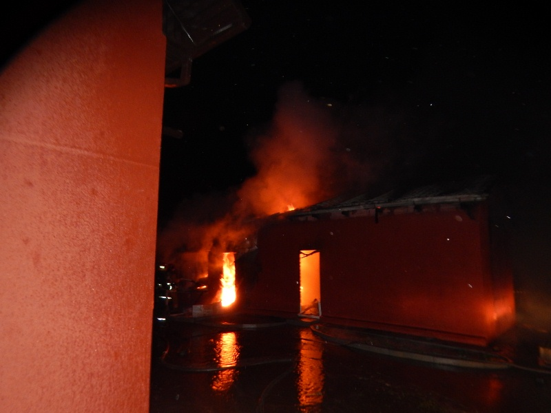 В Барановичах горела баня, совмещенная с гаражом