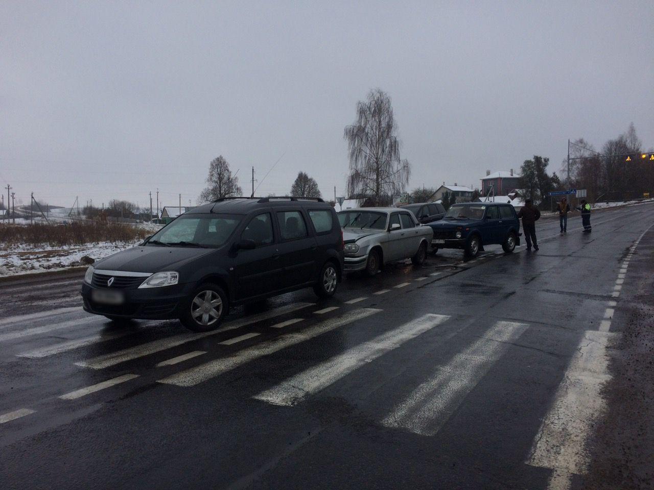 В Ляховичском районе столкнулись три автомобиля. Фото: ОГАИ Ляховичского РОВД