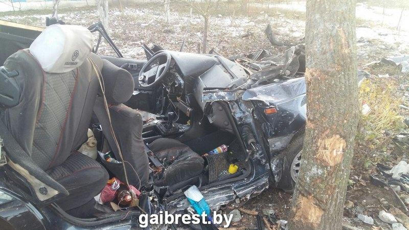 В Брестской области водитель в ДТП убил себя и пассажира