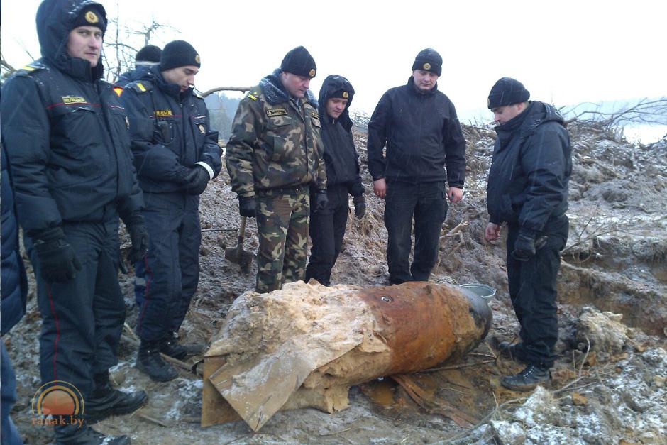 Немецкую авиабомбу весом тысяча кг отыскали около Светлогорска