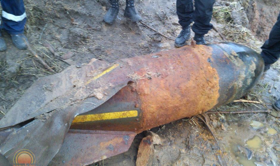 ВСветлогорском районе вземле обнаружили авиационную бомбу весом в1 тонну