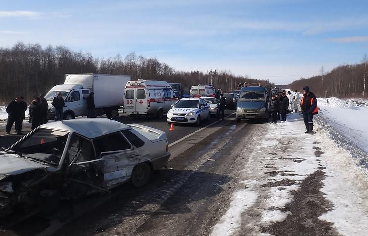 Авария в Ханты-Мансийском округе России. Фото: ТАСС