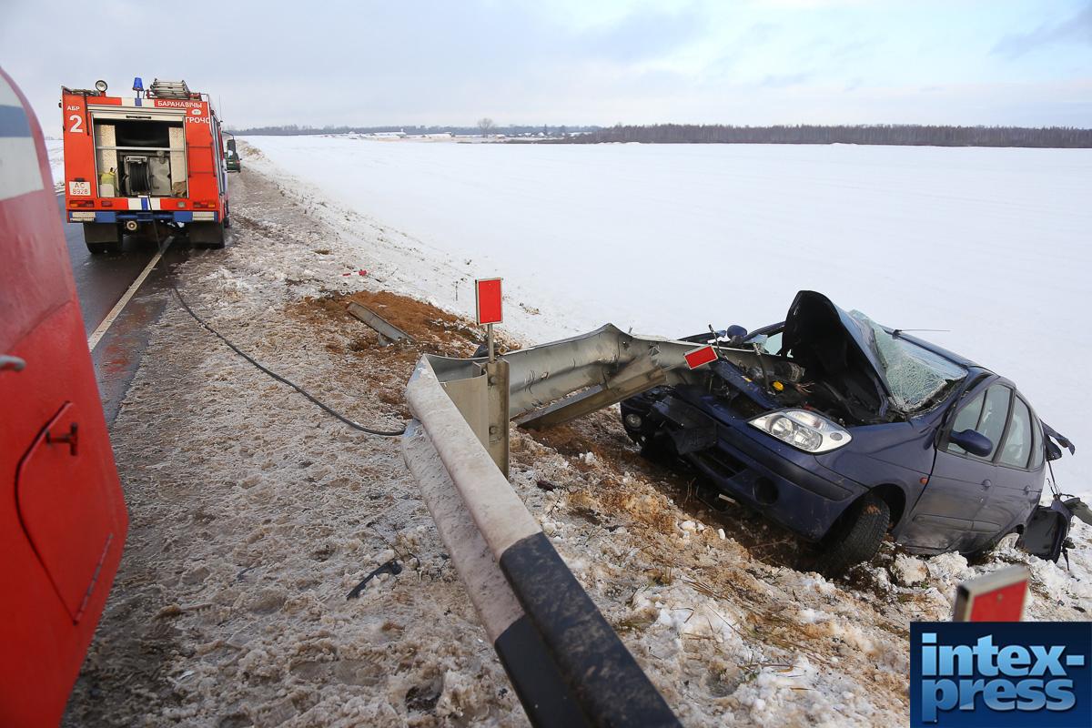 ДТП с отбойником на объездной дороге. Фото: Александр Короб