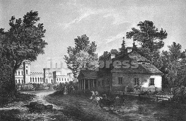Так выглядае Косаўскі замак і Марачоўшчына на малюнку Напалеона Орды (XIX ст.)