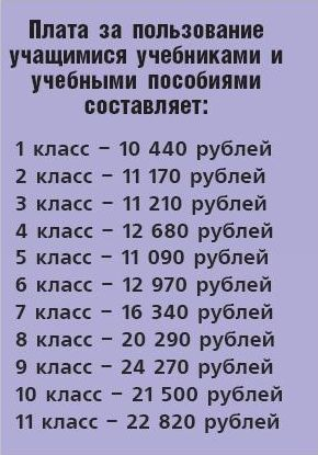 Сколько стоят учебники