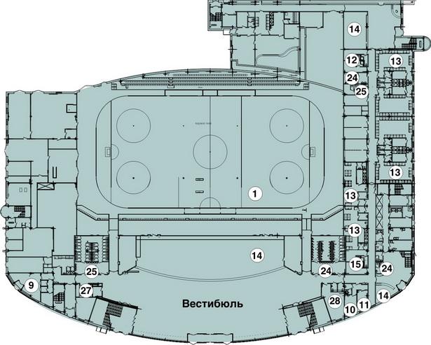 Схема 1-ый этаж