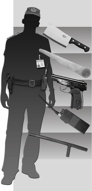 Схема 3. Какие предметы использовались в качестве оружия против милиционеров
