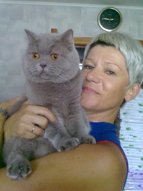 Лика Потоцкая и кот Бурбон