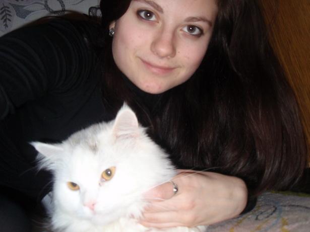 Кристина Зенюк и кот Тимофей