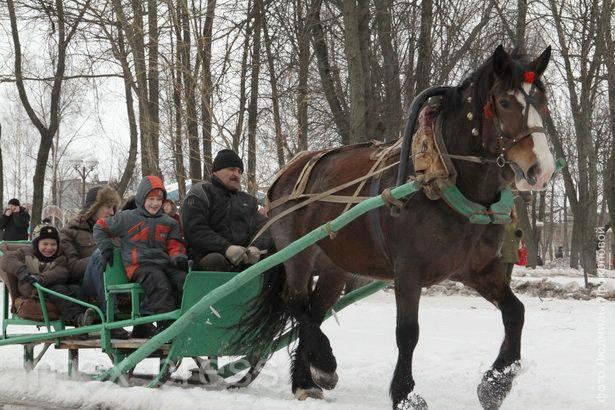 Взрослые и детвора с удовольствием катались на лошадях