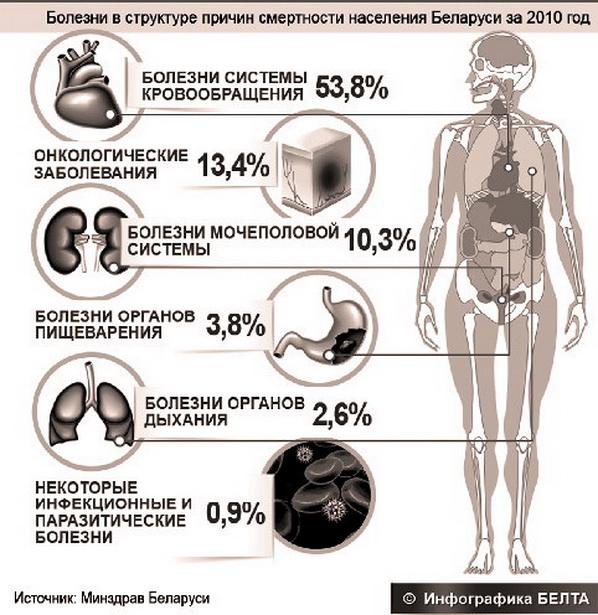 Какие болезни уносят жизни белорусов?