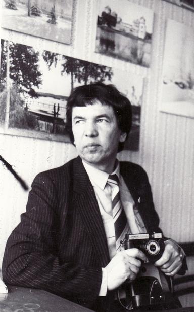 Рэдактар шматтыражнай газеты «Тэкстыльшчык» Аляксей Белы, 1987 год