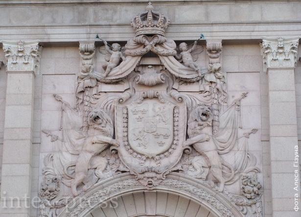 Стакгольмскі парламент. Барэльеф