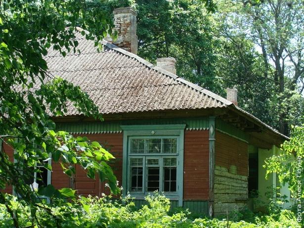 Выгляд на страчаную сядзібу Бохвіцаў у Вошкаўцах -- фота 2009 года