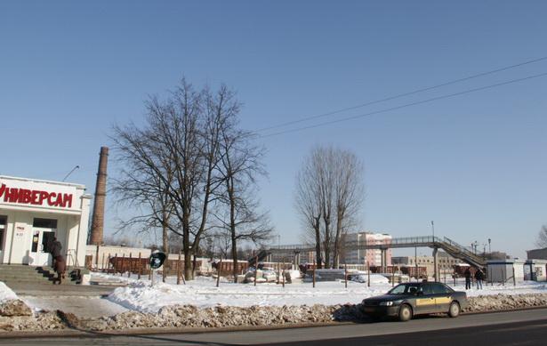 Земельный участок, выделенный предпринимателю Николаю Черноусу для строительства детского кафе в Северном микрорайоне.