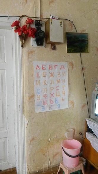 Старшему сыну Натальи приходится изучать азбуку без помощи учителя