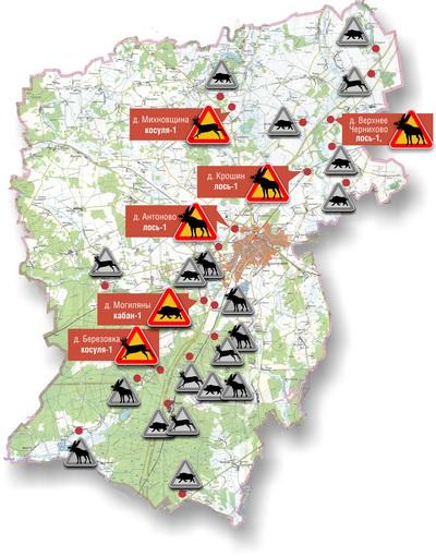 ДТП с дикими животными, произошедшие в мае 2012 года