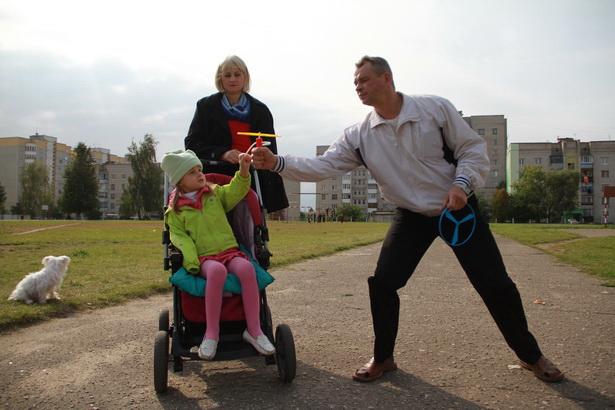Семья Гаврелюк в Барановичах. Фото Людмилы Прокоповой