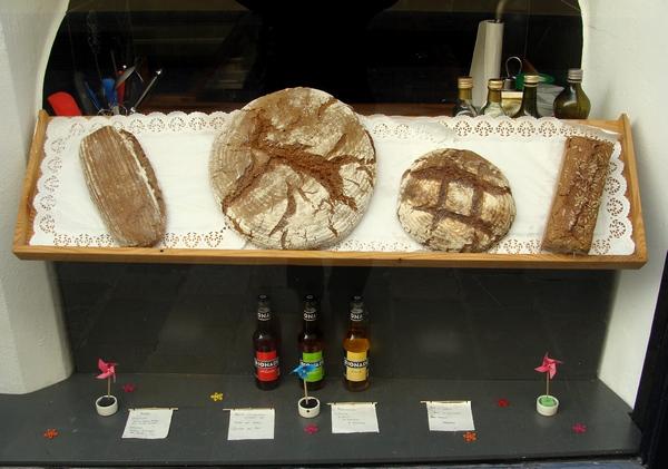 Вітрына з хлебам, г. Лінц, Аўстрыя  -- фота Алеся Гізуна