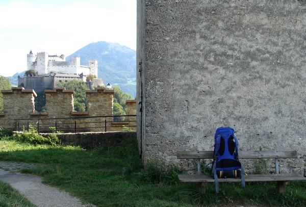 На даляглядзе - замак Хоэнзальцбург, г. Зальцбург, Аўстрыя  --  фота Алеся Гізуна