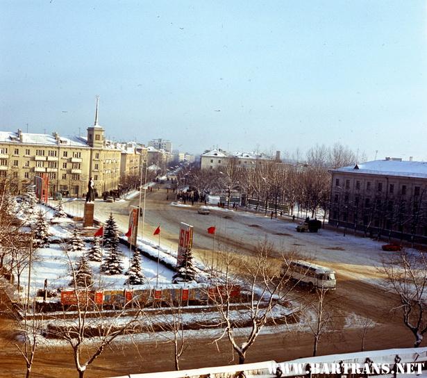 Площадь Ленина, февраль 1977 года, фото Е. А. Коктыш