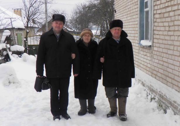 С супругами Воробей