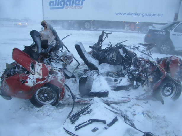 Последствия аварии на трассе повергли в шок даже видавших виды сотрудников ГАИ