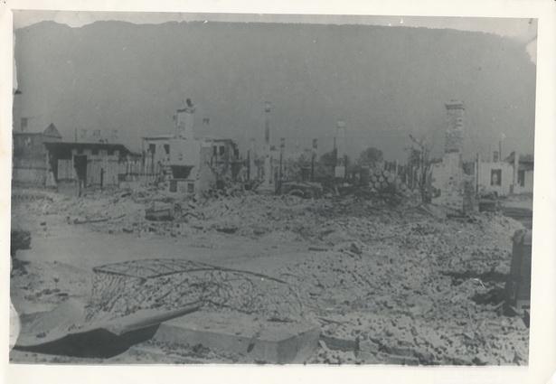 Барановичи. Разрушенная улица Комсомольская,  1944 год