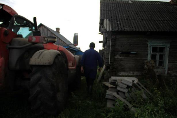 Районные ветврачи забирают свиней у жителей деревни Адаховщина 14 августа. Фото Intex-press