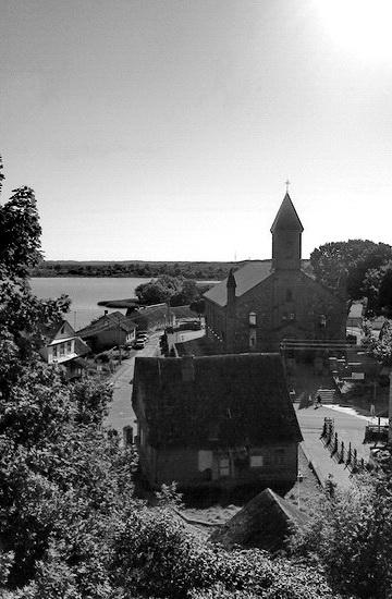 Вид с Замковой Горы в Браславе