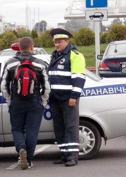 За безопасностью проведения мероприятия следили сотрудники ГАИ. Фото Людмила СТЕЦКО/INTEX-PRESS