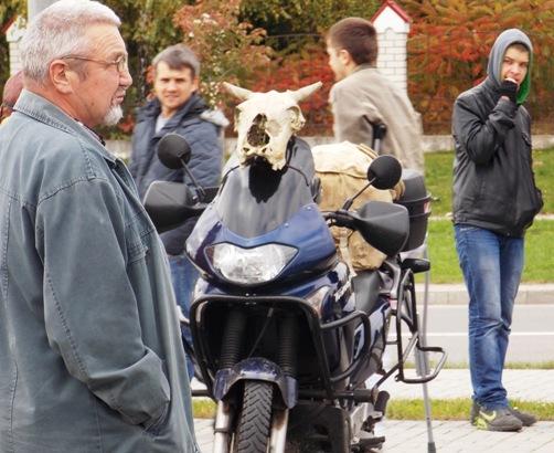 На мотоциклах можно было увидеть и черепа...Фото Людмила СТЕЦКО/INTEX-PRESS