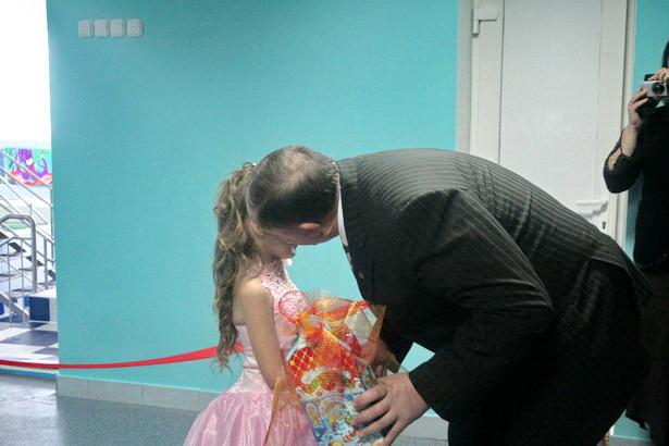 На открытии бассейна в детской поликлинике. 2009