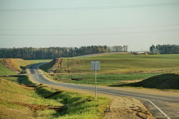 Съезд с дороги Барановичи-Столбцы на объездную