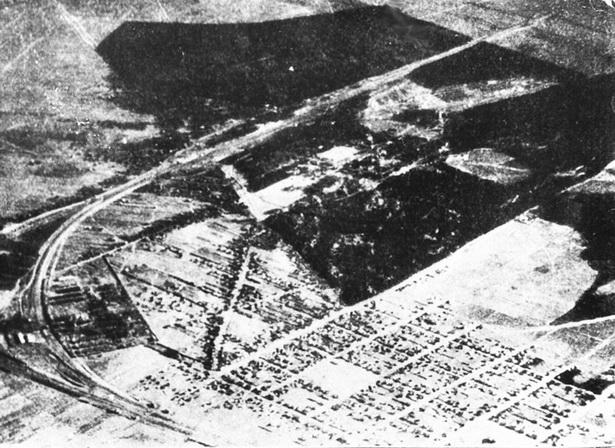 Вид на Барановичи с германского самолёта. 1915 г.