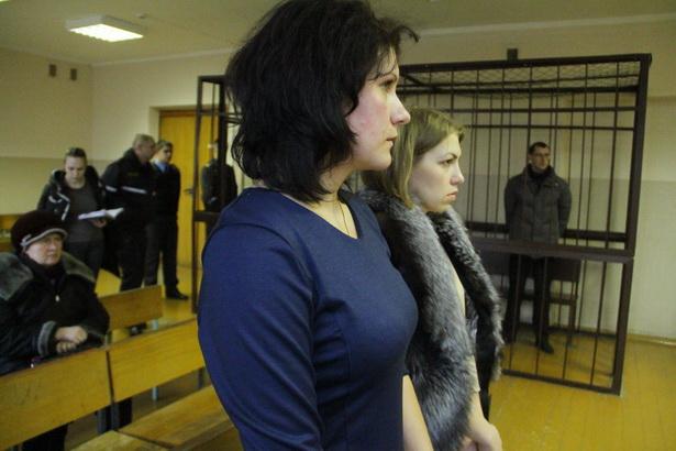 Родственники погибших дорожников во время оглашения приговора 23 декабря