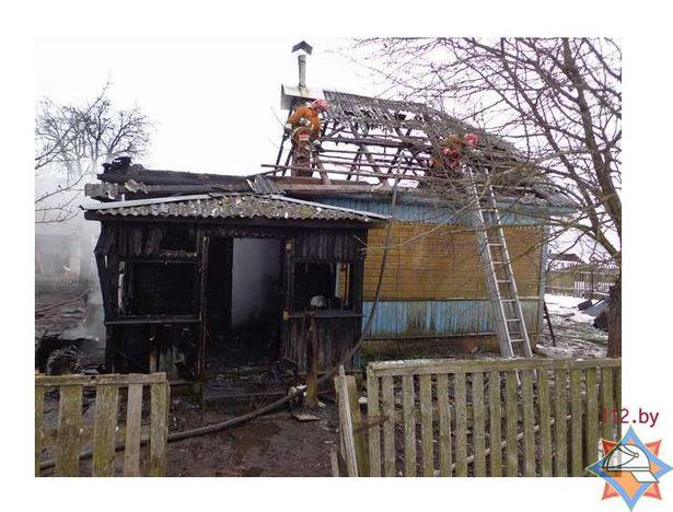 Пожар в д. Малые Луки // фото с сайта МЧС