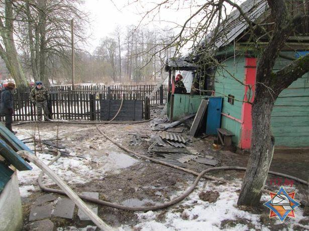 Пожар в Большой Своротве. Фото с сайта МЧС