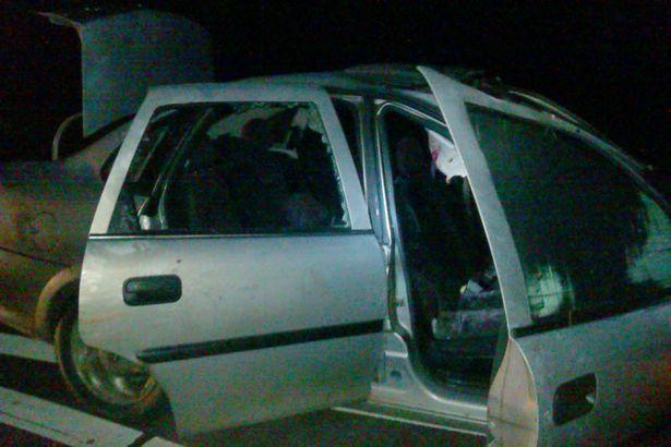 Лось спровоцировал аварию в Барановичском районе. Фото с сайта http://gaibrest.by/news/2643