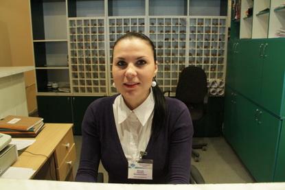 Оксана, администратор гостиницы 'Горизонт'