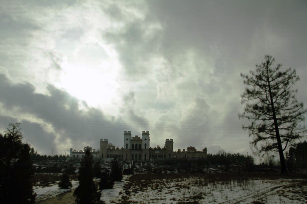 Коссовский замок. 2014 год. Парк, разбитый на склоне холма в виде трех террас, исчез