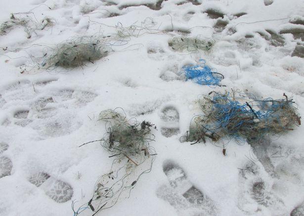 Сети, изъятые у браконьеров. Фото Барановичской государственной инспекции охраны животного и растительного мира при президенте РБ.