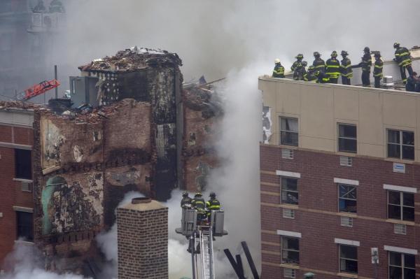 Взрыв бытового газа в Нью-Йорке