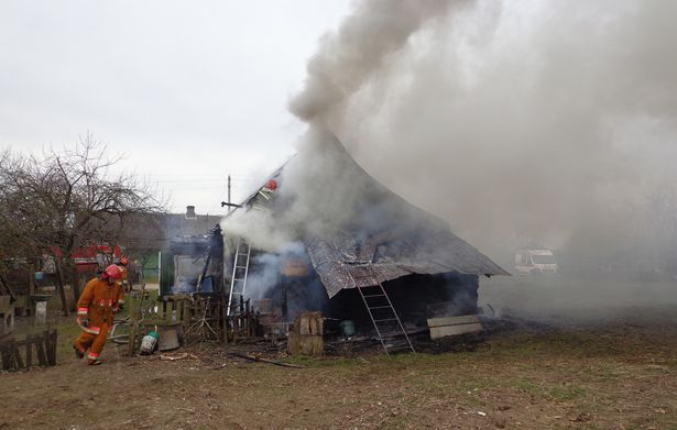 Пожар в д. Приозерная