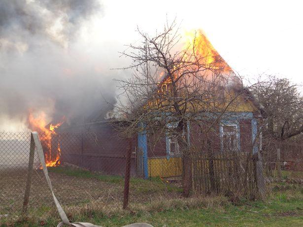 Пожар в д. Приозерная. На скорость распространения огня повлиял и тот факт, что на чердаке хранилось сено