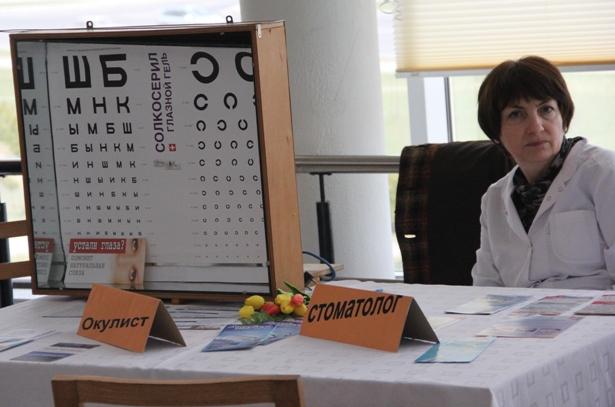 На выставке-ярмарке можно было проверить зрение. Фото Александр Трипутько.