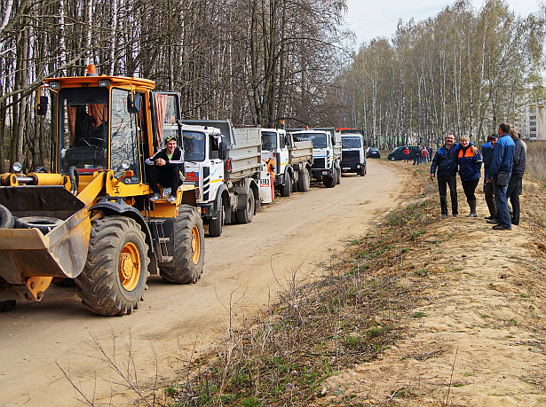 Субботник в Барановичах 11 апреля. Фото Дмитрия Макаревича
